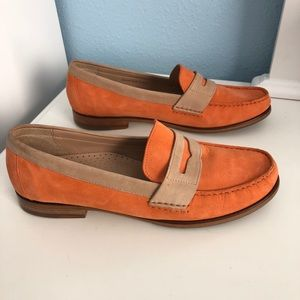 Cole Haan Suede Two Tone Penny Loafer Shoes 8.5